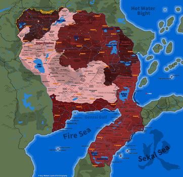 Naruto Map: Land of Fire Geography by Fire-Daimyo