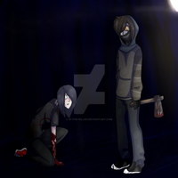 Si Killer and Ticci-Toby by Si-the-Killer