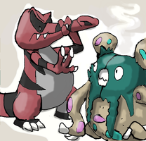 Krookodile and Garbodor