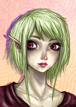 Elf Speed Paint by DinAmplified