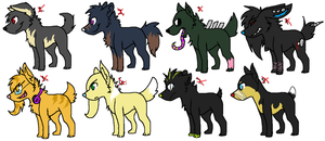Free Dog Adoptables CLOSED by InfectedZombieX