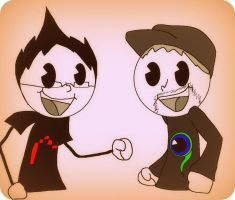 Markiplier and  Jacksepticeye by DragoTheGamer