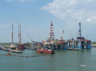 Oil rigs by jcphotos