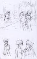 Homestuck - CampingStuck sketches 02 by ChibiEdo