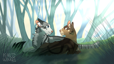 Fogpelt and Shadepool by Pearlwing2001