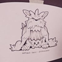 Inktober #6: Stoutland and Lillipup