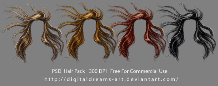 Hair pack 11 by DigitalDreams-Art
