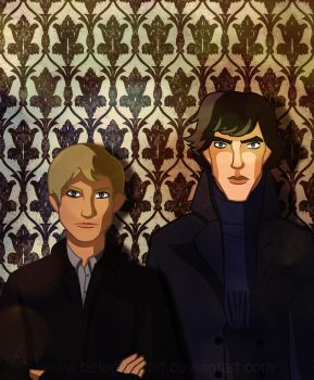 Sherlock and John by Belegilgalad