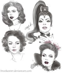 Lana Parrilla Study and Sketches by Brookestirr