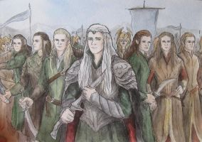 Elven army by AnotherStranger-Me