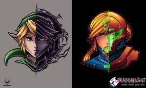 Link and Samus by Pertheseus