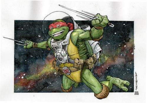 Turtle in Space by Laemeur