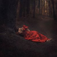 Scarlet Slumber by parvanaphotography