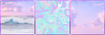 pastel aesthetic divider by noragumies
