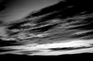 black and white sunset 2 by firestripe
