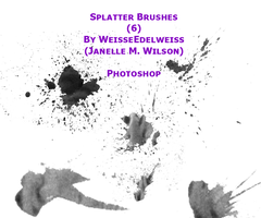 6PS Splatter Brushes 42111 by WeisseEdelweiss