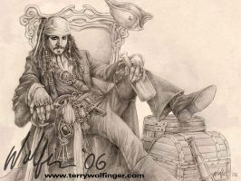 Captain Jack Sparrow by WolfieArtGuy