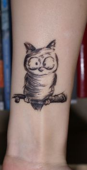 owl tattoo by andrea-elisabeth