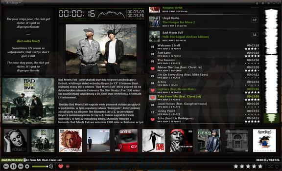 My foobar2000 Layout by ImDaRc