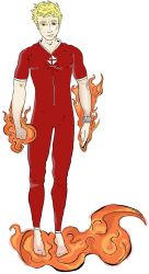 Human Torch/ Johnny Storm Redesign by JohnConklin