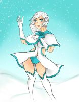 Nadia in the Snow by Melody-in-the-Air