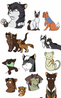 Voltron Cat Sketch Dump by Whistling-Fox
