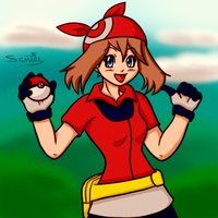 Pokemon Trainer May by Gakenzi