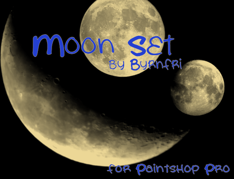 Moon set of 15 by byrnfri-resources
