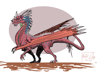 Red-Pink Draco_Reactivation by Slugozaur