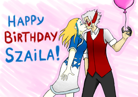 Happy birthday Szaila! :D by Chibiklompen