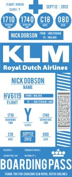 KLM Boarding Pass by OpenMind989