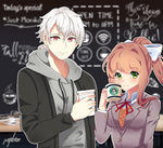 (Kofi) Coffee with Zen and Monika by pastelaine-art