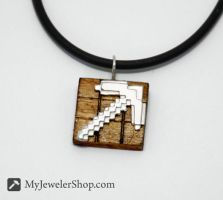 Minecraft Pickaxe Pendant by Sketchy-Stories