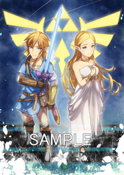 BotW - Link and Zelda by Baitong9194