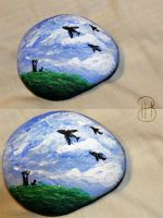 [ Painted Rocks ] For Dad by Dreamsverse