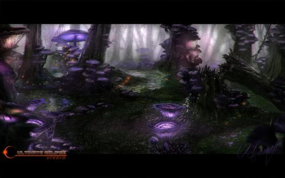 Mushroom Forest Concept by Victor-Lam-art