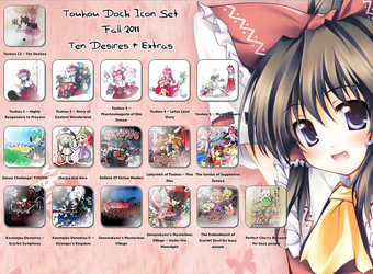 Touhou Dock Icon Set Fall 2011 by requiem18th
