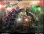 Godzilla Gamera hell on earth by darkriddle1