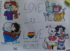 Undertale: Love is Love by greendrawer