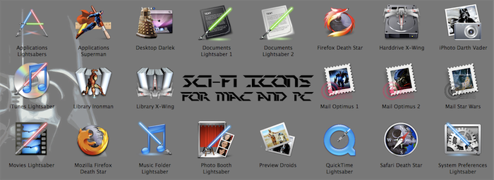 Sci-Fi Icons for Mac and PC by kortos117