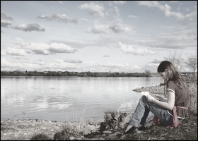 Reading by the River 2 by gentlegenius