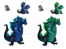 Errid Region Water Starters by rayvenredfield