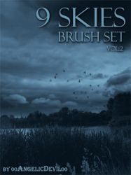 9 Skies brush set vol.2 by 00AngelicDevil00
