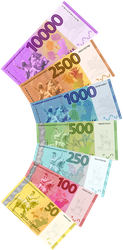 Giant Ilian Banknote Fan 2.0 by requindesang