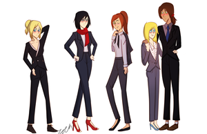 Snk Suits by blinding-roses