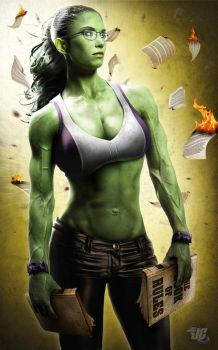 She Hulk Commission by Jeffach