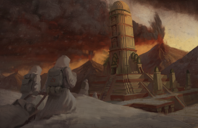 Ancient Volcanic Tower wip by Mandilor