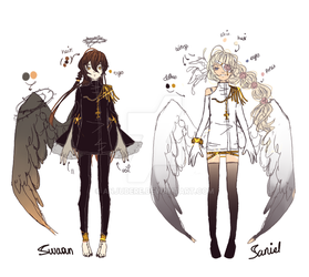 {Reference Sheet} Swann and Sariel by AnjuDere