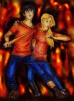 Percabeth in Tartarus (Colored) by Alb-art