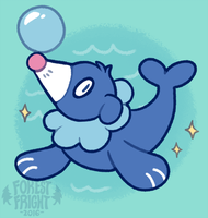Popplio by ForestFright